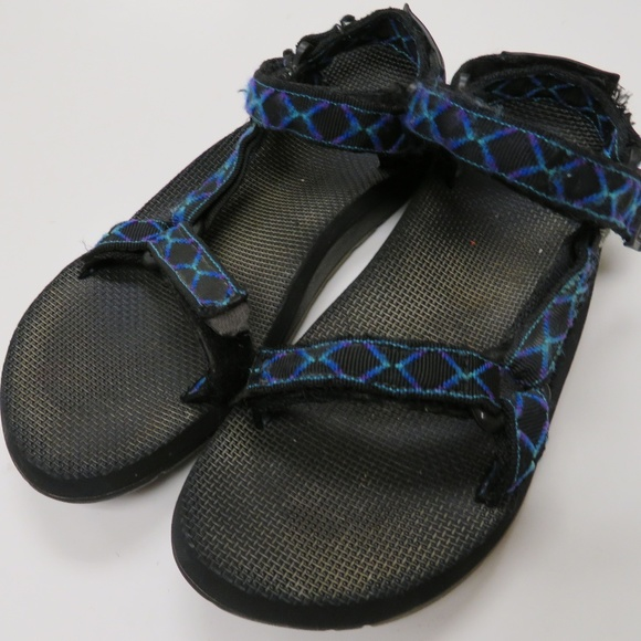 9d7e7904c8516 Teva Water Sport Sandals Mens 11 Blue Black Trail.  M 5ad2284e6bf5a688c13199ca